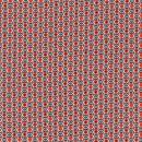 Let bomuld m/retro print hvid/sort/orange-rød