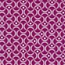 Bomuld mønstret cerisse/hvid