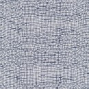 Rest Bomuld m/uens tern hvid/marine- 20 cm.