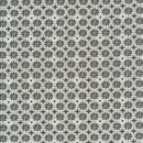 Rest Bomuld med cirkel og blomst i grå og hvid.- 50 cm.