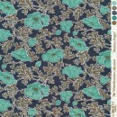 Bomuldspoplin Liberty - Beatrice Poppy i mørkeblå, irgrøn army