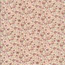 Småblomstret bomuld hvid gl.rosa laks sart gul