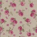 Hør-look m/rosa blomster