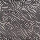 Ciffon i viscose/polyester med zebra print i sand/sort