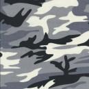 100% bomuld/cowboy i army print sort grå hvid