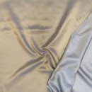 Acetat foer twill-vævet 2-farvet i camel og lyseblå