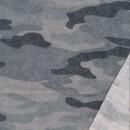 Isoli med stræk i stone-washed armyprint i grå