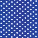 Bomuld/lycra økotex m/prikker, klar blå/hvid