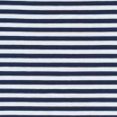 Bomuld/lycra økotex stribet mørkeblå/hvid