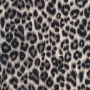 Bomuld/lycra økotex m/dyreprint, leopard beige-sort