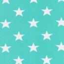 Bomuld/lycra økotex m/stjerner mint/hvid