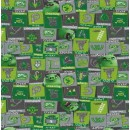 Rest Bomuld/lycra økotex m/digitalt tryk,Angry Birds m/firkanter, 50 cm.