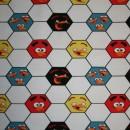 Bomuld/lycra økotex m/digitalt tryk,Angry Birds m/fodbold