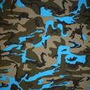 u Bomuld/lycra økotex m/army-print, army/turkis/sort