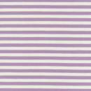 Bomuld/lycra økotex stribet lyselilla/hvid