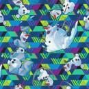 Bomuld/elasthan i digitalprint med Olaf fra Frost