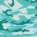 Bomuld/lycra økotex m/army-print i aqua