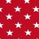 Rest Øko-bomuld/lycra m/stjerner rød/hvid 45 cm