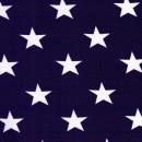 Bomuld-lycra økotex med stjerner mørkelilla og hvid