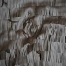 Rest Imiteret læder m/frynser, mørkebrun, 140 cm.