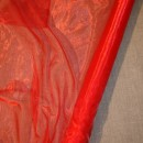 Rest Organza i rød 35-50 cm.