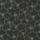 Rest Polyester m/blomster-mønster koks/beige 40 cm.
