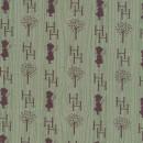 Afklip Patchwork stof Holly Hobbie country i grøn og brun 50x55