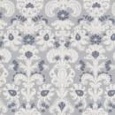 Patchwork stof med mønster i lysegrå, hvid og mørkegrå