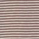 Rest Stribet rib off-white/grå-lyng, 20 cm.