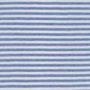 Stribet rib hvid/lys denim
