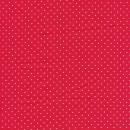 Rest Skjorte poplin med stræk, rød med hvide små prikker- 70 cm.