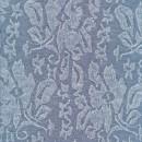 Jacquard strik med blomster i lys deminblå meleret