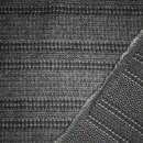 Stribet uld sort/grå-brun