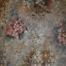 Velour m/digitalt blomster-print lysegrå/rosa/lyselilla