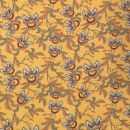 100% viskose twill-vævet carry-gul med blomster-blade