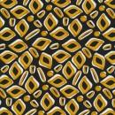 100% viscose med mønster i sort carry og hvid