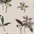 100% viskose twill-vævet i sand med orkide