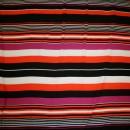 Rest Viscose/lycra m/striber pink/orange/sort/hvid 50 cm.