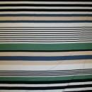 Rest Viscose/lycra m/striber beige/støvet grøn/sort 85 cm.