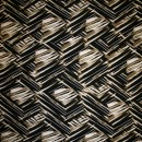 Rest Viscose/lycra mønstret sort/grå-oliven/laks/hvid, 150 cm.