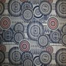 Viskose jersey med cirkler i digitalprint