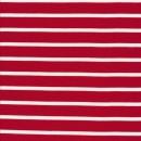 Viscose jersey i rød med hvide striber