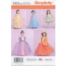 Simplicity 1303 Pige prinsesse-kjole
