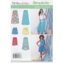 Simplicity 1616 Jersey-nederdel