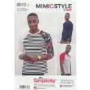Simplicity 8613 Herre t-shirt med rund- og V-hals