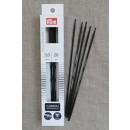 Prym strømpepinde ergonomiske i Carbon str. 3