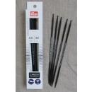 Prym strømpepinde ergonomiske i Carbon str. 4