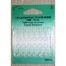 Tryklåse transparent 7 mm.