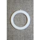 Plastring - Gardin ring hvid 20 mm.