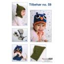 Tilbehør no. 59 Babyhuer/vanter/sokker